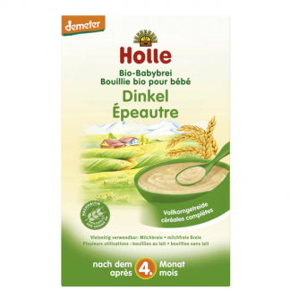 Cháo ăn dặm lúa mạch nguyên cám hữu cơ Holle