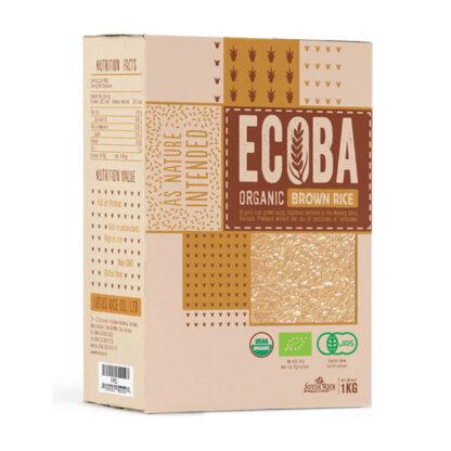 Gạo hữu cơ xát rối ECOBA 1kg