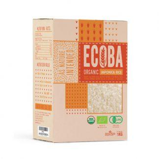 Gạo trắng hữu cơ Japonica Ecoba 1kg