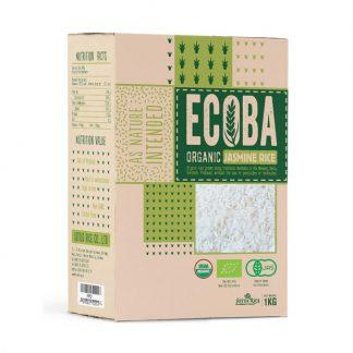 Gạo trắng hữu cơ Jasmine Ecoba 1kg