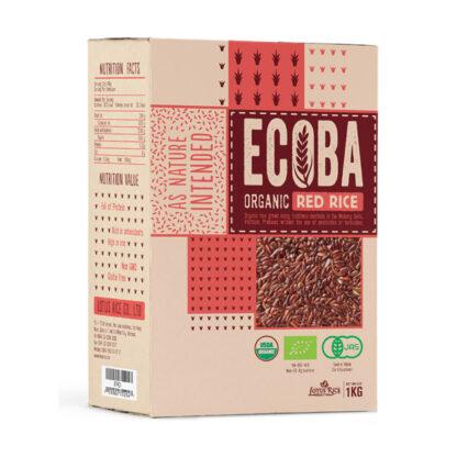 Gạo lứt đỏ hữu cơ ECOBA 1kg