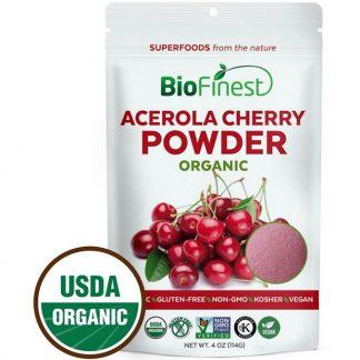 Bột quả anh đào acerola hữu cơ BioFinest