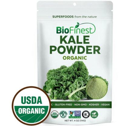 Bột rau cải xoăn (kale) hữu cơ BioFinest 114g