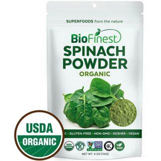 Bột rau cải bó xôi (spinach) hữu cơ BioFinest