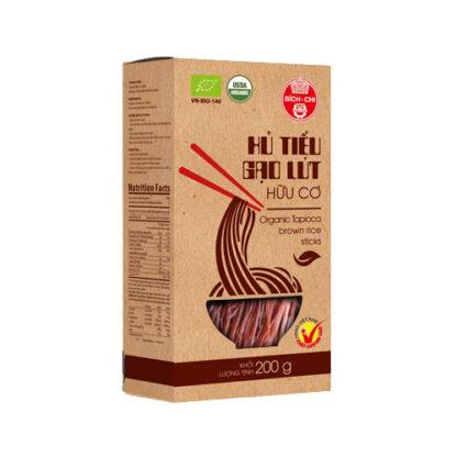 Hủ tiếu gạo lứt hữu cơ Bích Chi 200g