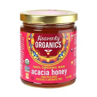 Mật ong Acacia hữu cơ Heavenly Organics 340g