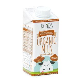 Sữa bò hữu cơ Koita Milk vị chocolate ít béo 200ml