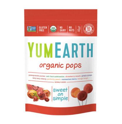 Kẹo mút trái cây hữu cơ các loại hương vị YumEarth