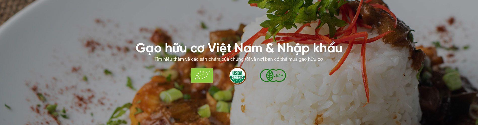 Gạo hữu cơ Việt Nam & Gạo hữu cơ nhập khẩu