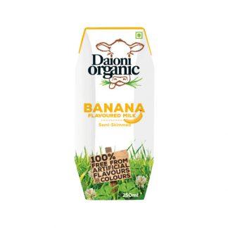 Sữa bò hữu cơ vị chuối Daioni Organic