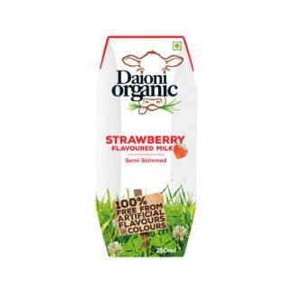 Sữa bò hữu cơ vị dâu Daioni Organic