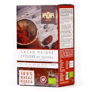 Bột cacao hữu cơ nguyên chất tách béo Kaoka 250g
