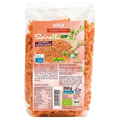 Nui xoắn từ đậu lăng đỏ hữu cơ Holo Organic 250g