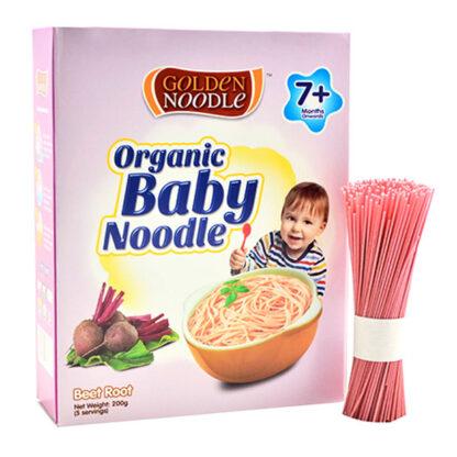 Mì sợi hữu cơ cho bé vị củ dền Golden Noodle 200g