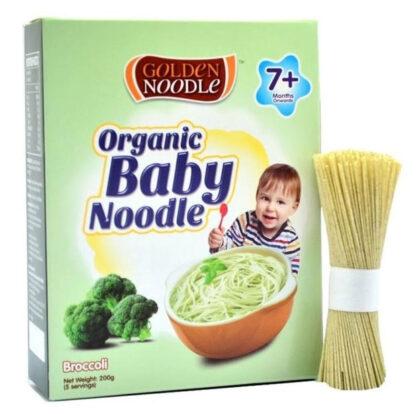 Mì hữu cơ cho trẻ ăn dặm bông cải Golden Noodle 200g