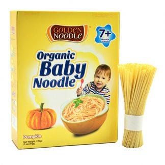 Mì sợi hữu cơ cho bé vị bí ngô Golden Noodle 200g