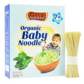 Mì hữu cơ cho trẻ ăn dặm rau bina Golden Noodle 200g