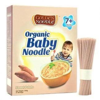 Mì hữu cơ cho trẻ ăn dặm khoai lang Golden Noodle 200g