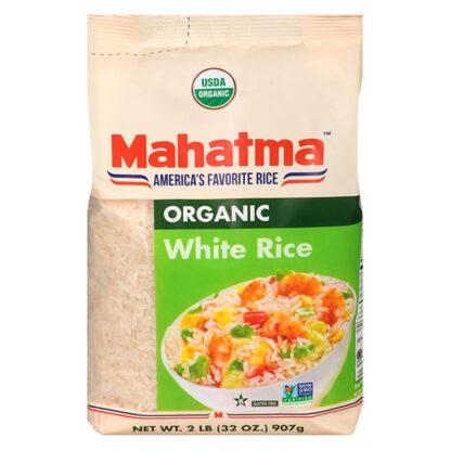 Gạo trắng hạt dài hữu cơ Mahatma 907g
