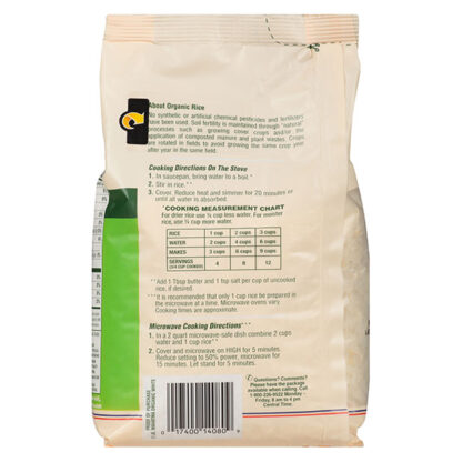 Organic white rice Mahatma 907g