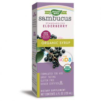 Siro hữu cơ tăng sức đề kháng cho trẻ em Nature's Way Sambucus Elderberry 120ml