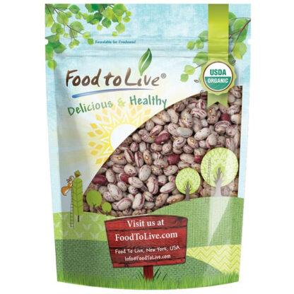 Đậu trứng cút (cranberry beans) Food to Live 500g