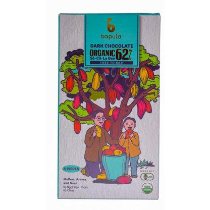 Chocolate đen hữu cơ 62% Bapula 50g