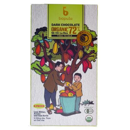 Chocolate đen hữu cơ 72% trà xanh Bapula 50g