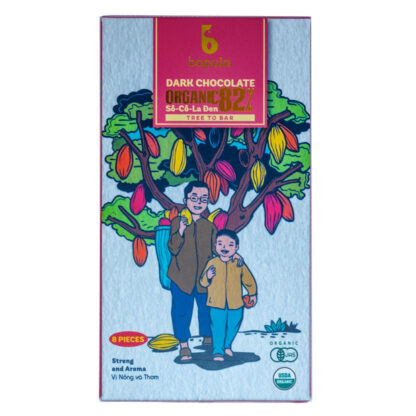 Chocolate đen hữu cơ 82% Bapula 50g