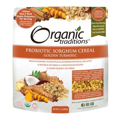 Ngũ cốc ăn liền vị nghệ vàng bổ sung lợi khuẩn Organic Traditions
