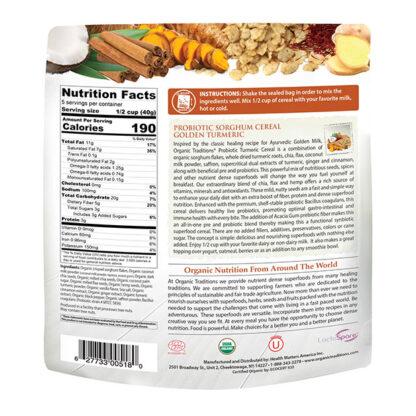 Ngũ cốc ăn liền vị nghệ vàng bổ sung lợi khuẩn Organic Traditions 200g