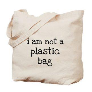 """Túi vải đựng hàng """"I Am Not A Plastic"""""""