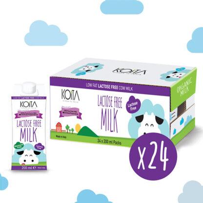 Sữa bò hữu cơ Koita Milk ít béo không chứa Lactose