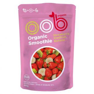 Hỗn hợp Dâu tây, Kiwi và Chuối hữu cơ đông lạnh OBB 450g