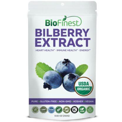 Bột quả việt quất đen (Bilberry) hữu cơ BioFinest