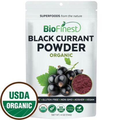 Bột quả lý chua đen (blackcurrant) hữu cơ BioFinest