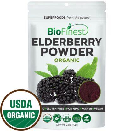Bột quả cơm cháy đen (elderberry) hữu cơ BioFinest