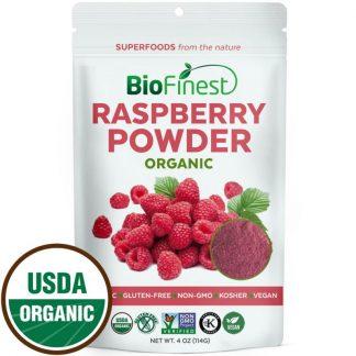 Bột phúc bồn tử đỏ (raspberry) hữu cơ BioFinest