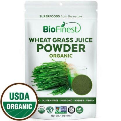 Bột mạ lúa mì (wheat grass) hữu cơ BioFinest 114g
