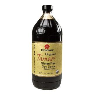 Nước tương men sống hữu cơ Ohsawa Tamari 947ml