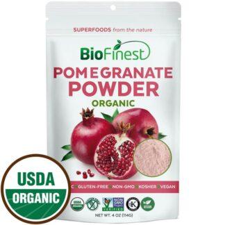 Bột quả lựu (pomegranate) hữu cơ BioFinest 114g
