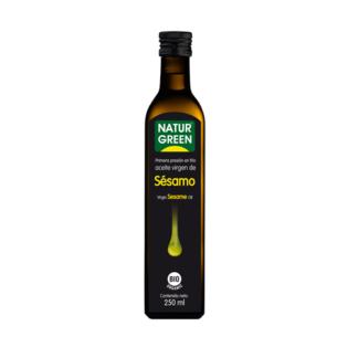 Dầu mè hữu cơ ép lạnh NaturGreen 250ml