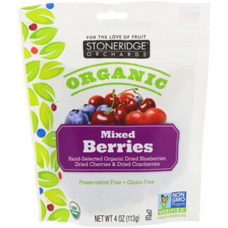 Hỗn hợp cherry, blueberry, cranberry hữu cơ sấy khô Stoneridge Orchards