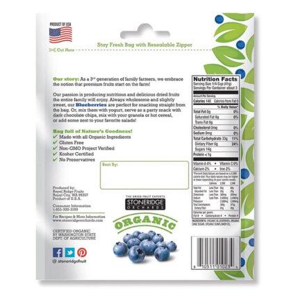 Việt quất (blueberry) hữu cơ sấy khô Stoneridge Orchards 113g
