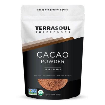 Bột Cacao tươi hữu cơ sấy lạnh Terrasoul 907g