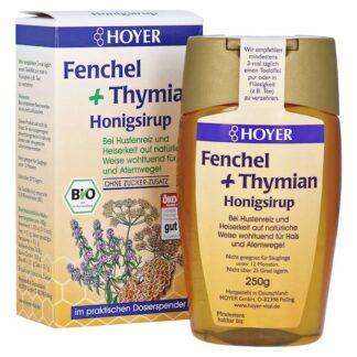 Siro ho mật ong hữu cơ Hoyer 250ml